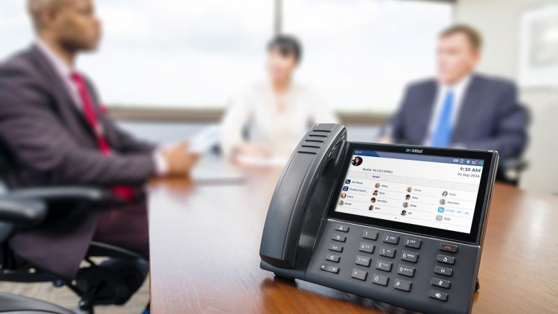 Mitel phone in new office